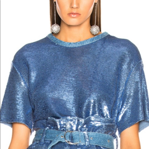 fb941a32621a9 Blue sequin crop top with tags